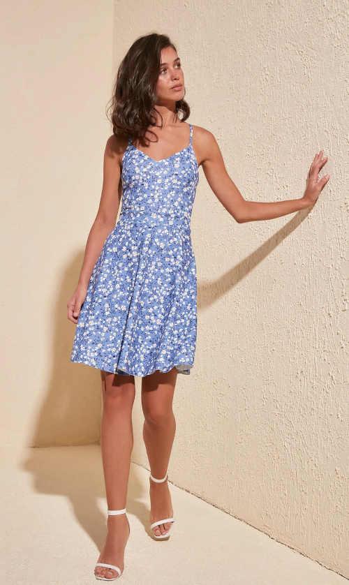 letní šaty květinový vzor