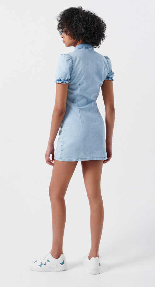 moderní riflové dámské šaty