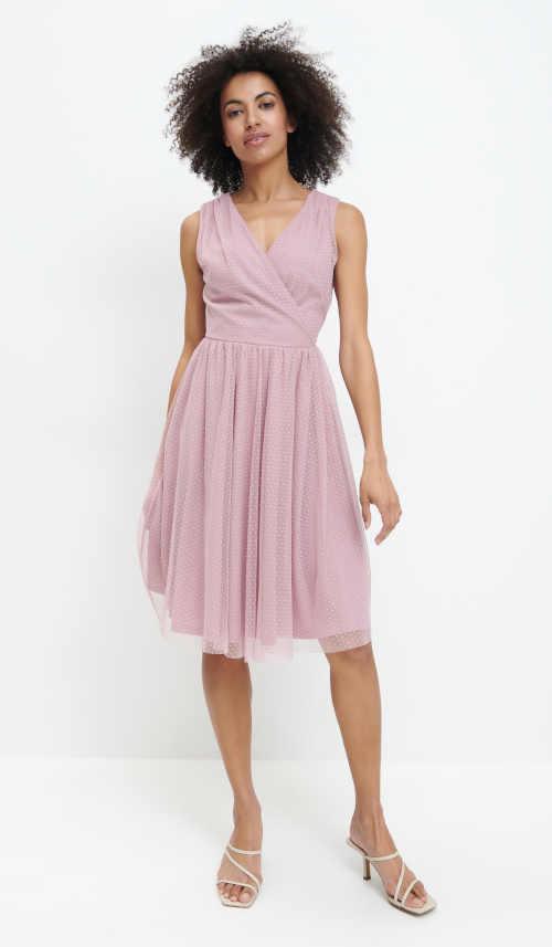 růžové šaty s podšívkou