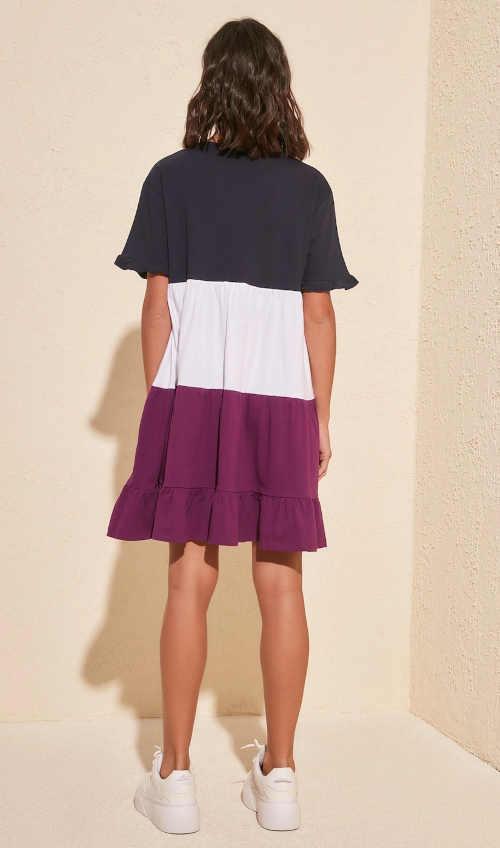 šaty v krátké délce volný střih