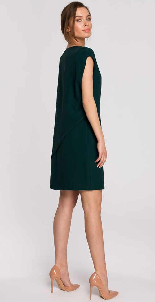šaty v tmavě zelené barvě