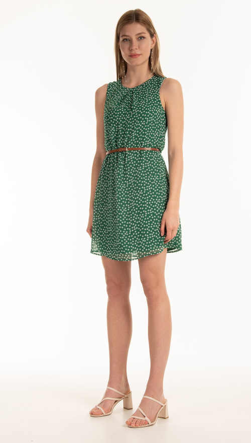 šaty zelené bez rukávů