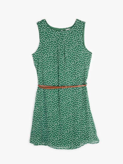 zelené šaty mini s páskem