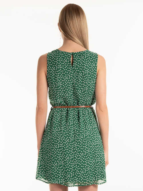 zelené šaty s květinovým vzorem