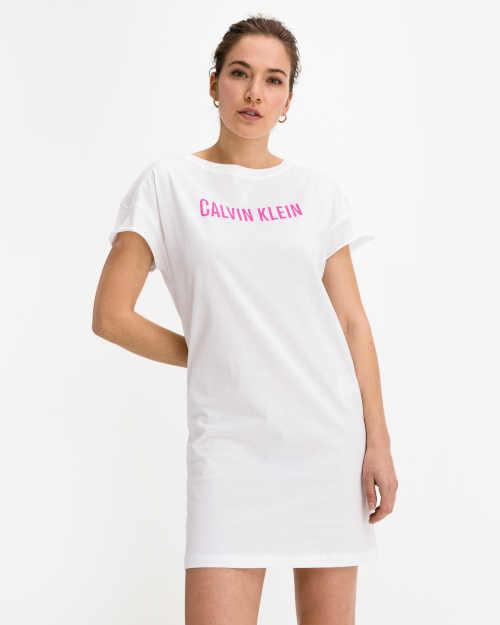 Sportovní bavlněné šaty Calvin Klein s krátkým rukávem