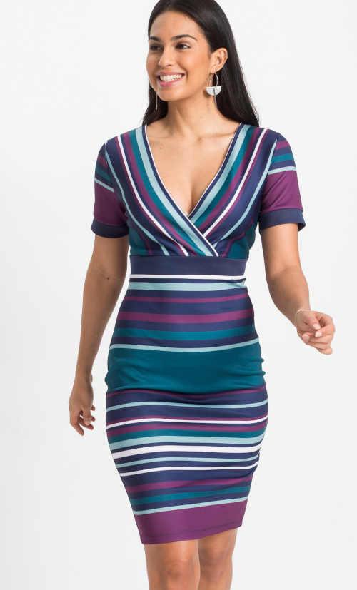 barevné šaty nad kolena Bonprix