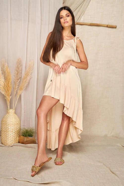 dámské béžové moderní šaty