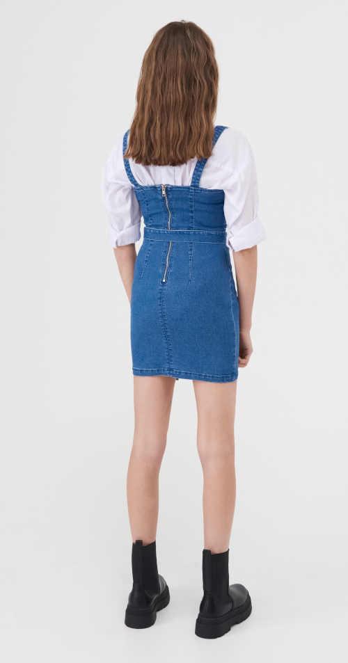 krátké modré riflové šaty