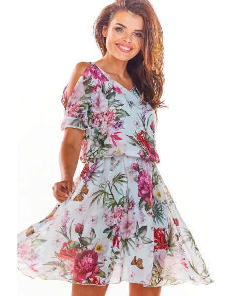 květované krátké letní šaty