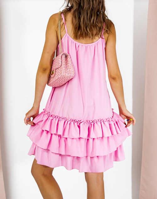 letní šaty s volánky