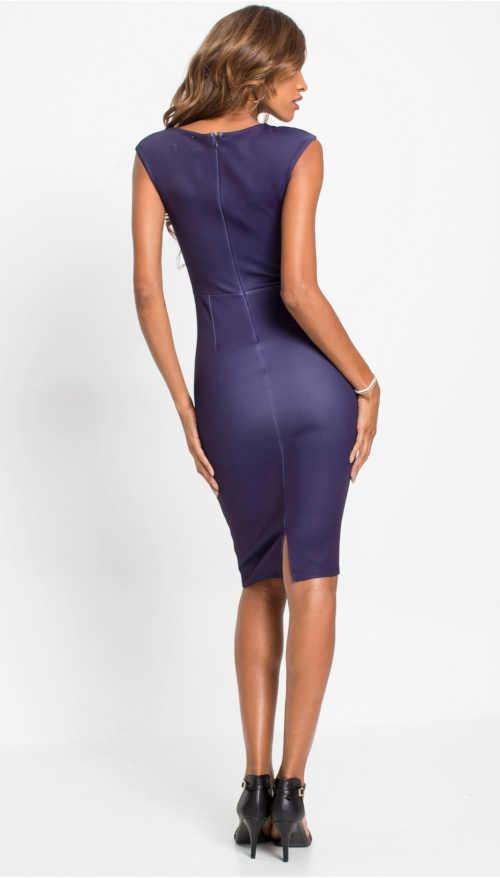 pouzdrové šaty nad kolena