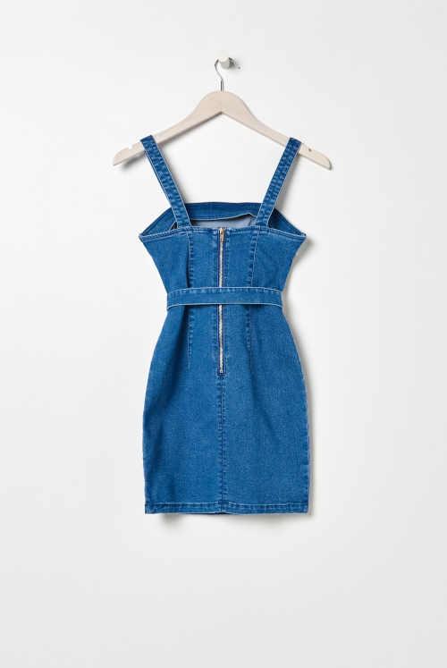 šaty džínové na ramínka
