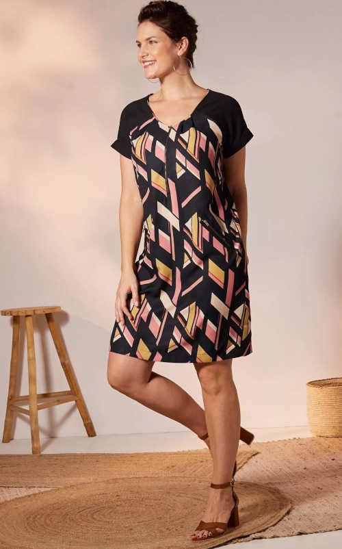 šaty s potiskem Blancheporte
