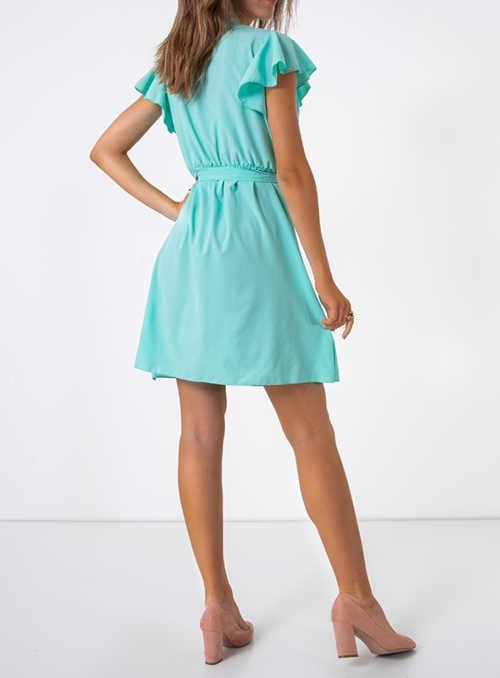 šaty s volánkovým rukávem