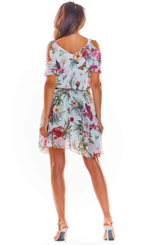 šaty v květovaném vzoru