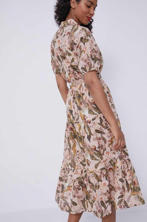 vzorované áčkové letní šaty