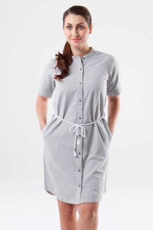 Dámské bavlněné šaty košilového střihu s páskem