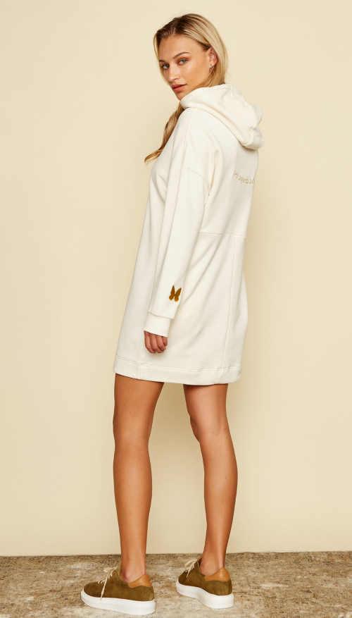 béžové mikinové šaty Simpo