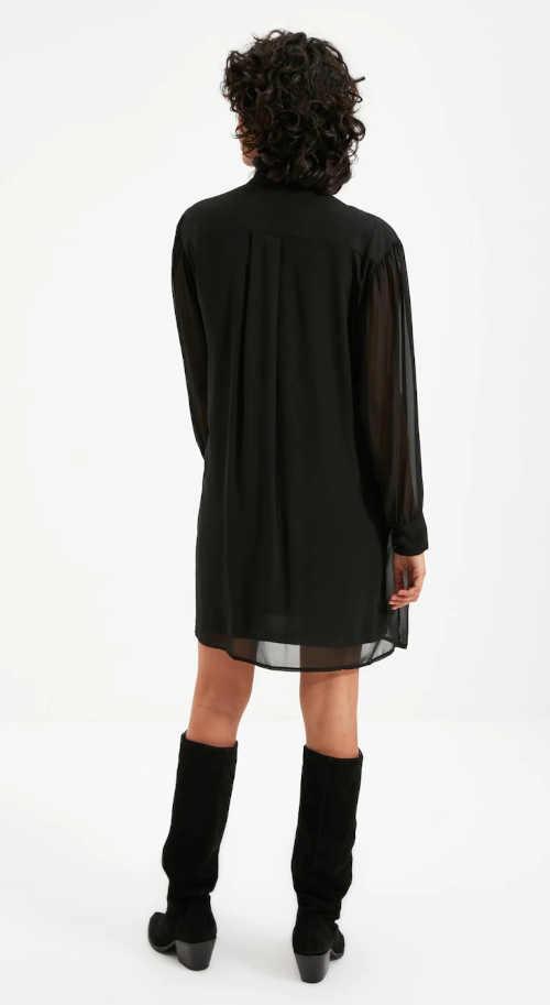 černé vzdušné krátké šaty