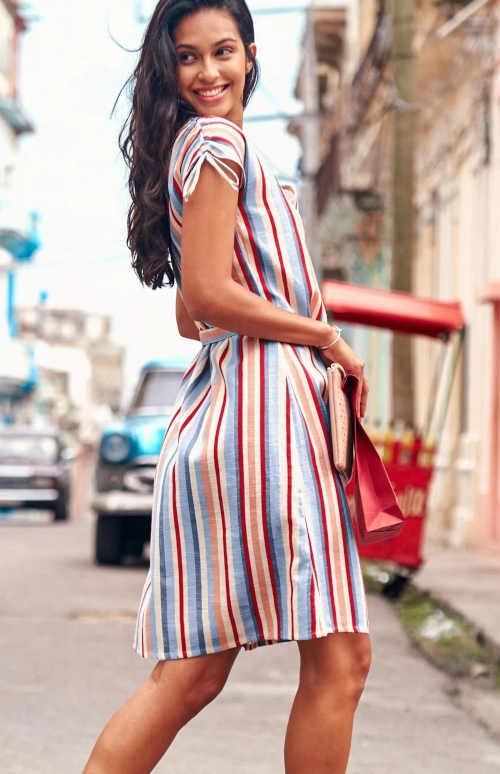 letní šaty pruhované Blancheporte