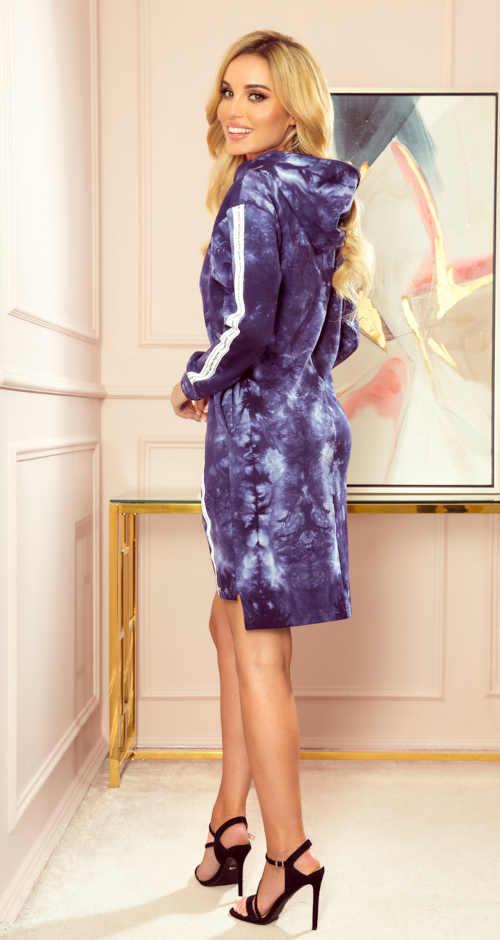 modré krátké batikované šaty