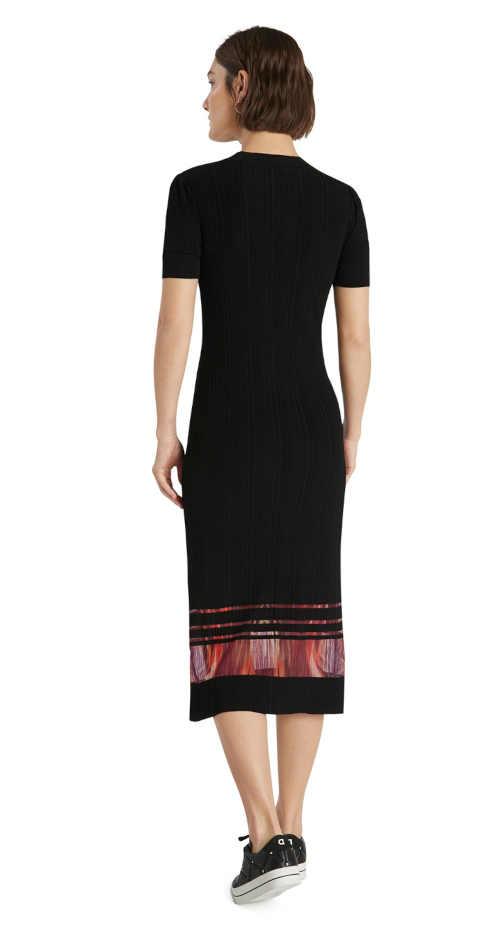 šaty Desigual s krátkým rukávem