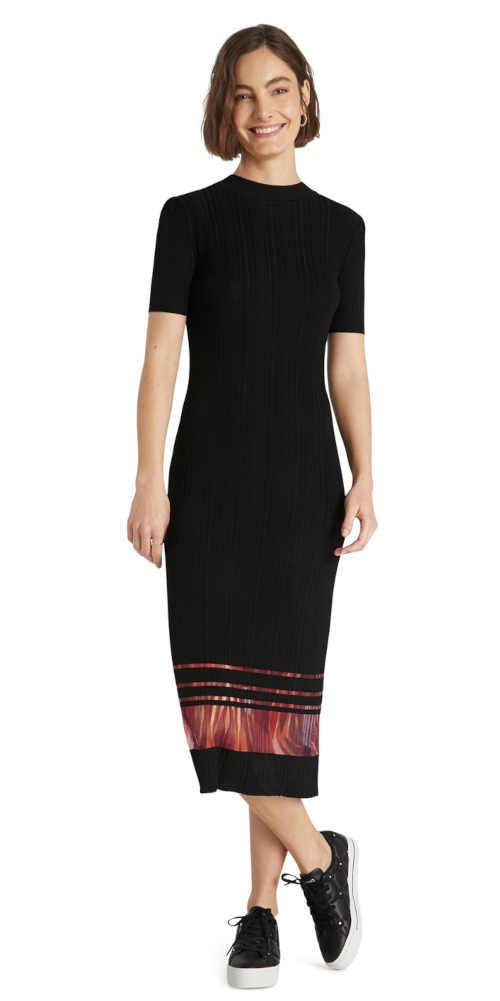 šaty černé ke krku