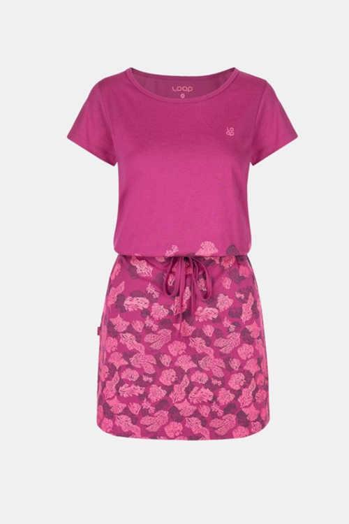 šaty s potiskem s krátkým rukávem
