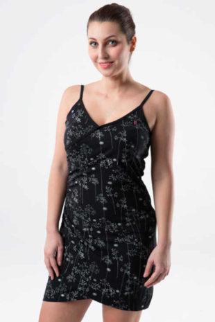 Dámské bavlněné vzorované šaty v asymetrickém střihu