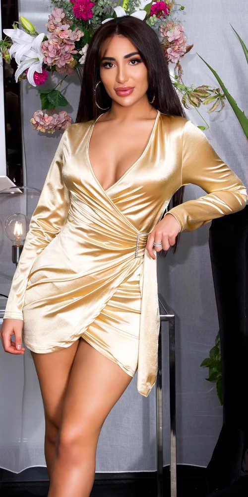 Sexy šaty v rafinovaném střihu z lesklého příjemného materiálu