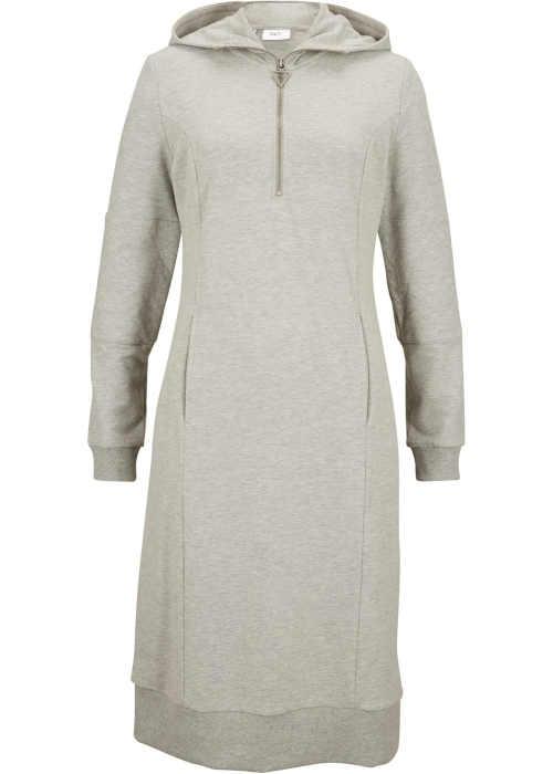 dámské mikinové šaty s kapsou