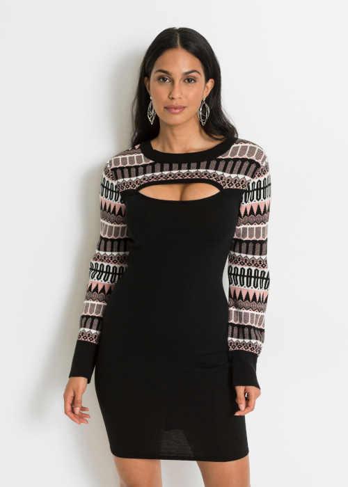 dámské pletené šaty Bonprix