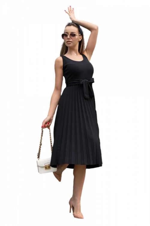 dámské šaty černé bez rukávů