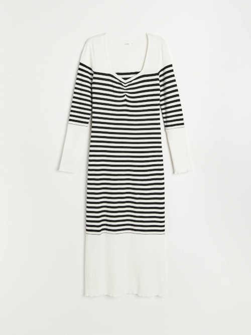 dámské žebrované dlouhé šaty