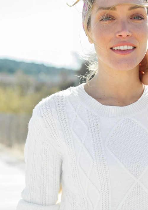 pletené šaty se vzorem