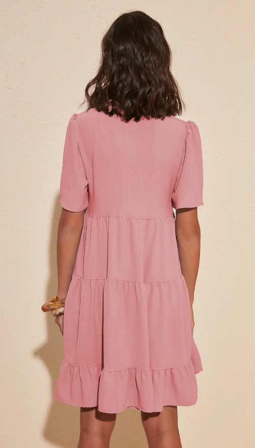 šaty ve starorůžové barvě