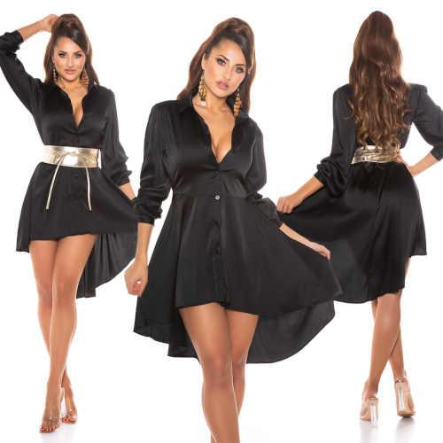 šaty vpředu v krátké délce