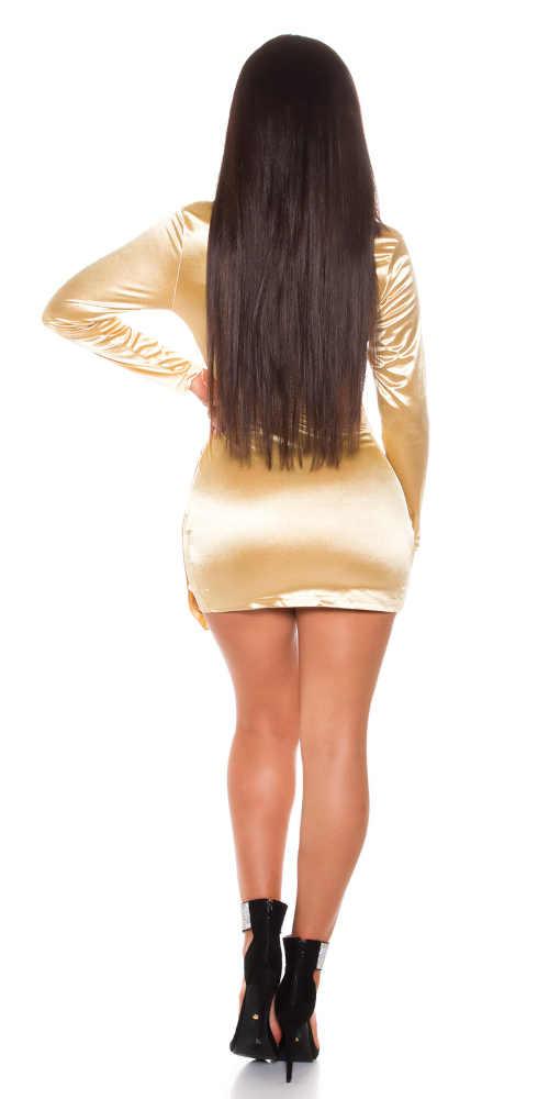 zlaté dámské krátké šaty